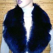 Аксессуары handmade. Livemaster - original item Dark red and dark blue bright gorget-Cape - collar Arctic Fox. Handmade.