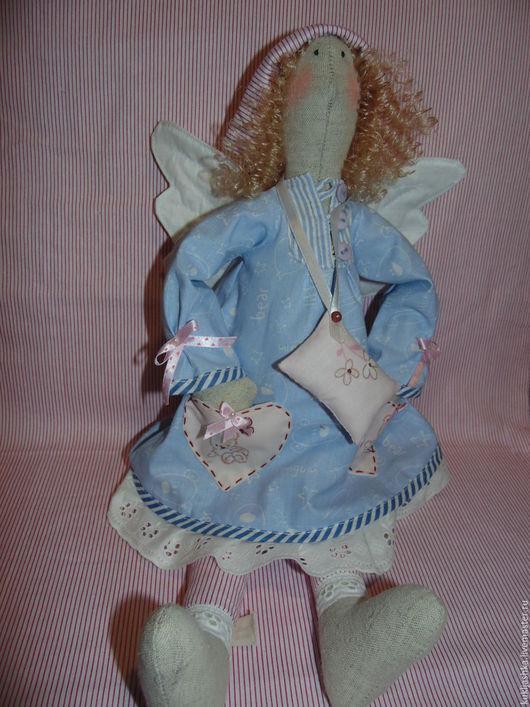 Куклы Тильды ручной работы. Ярмарка Мастеров - ручная работа. Купить Сплюшка. Handmade. Голубой, игрушка ручной работы
