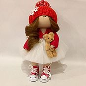 Тыквоголовка ручной работы. Ярмарка Мастеров - ручная работа Куколка в шапочке с помпоном. Handmade.
