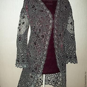 """Одежда ручной работы. Ярмарка Мастеров - ручная работа Пальто """"Кузнечик"""" ручное кружево. Handmade."""