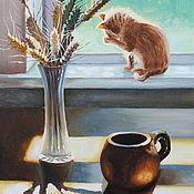 Картины и панно handmade. Livemaster - original item Oil painting still life with wheat. Handmade.