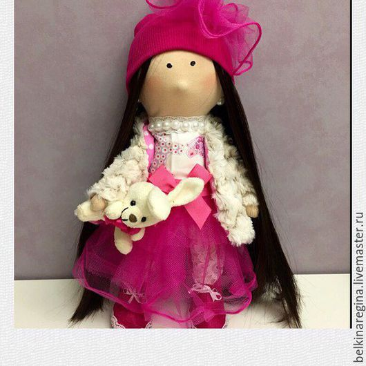 """Коллекционные куклы ручной работы. Ярмарка Мастеров - ручная работа. Купить Интерьерная кукла """"Роза"""". Handmade. Фуксия, синтепон, фетр"""