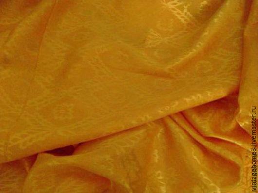 Комплекты аксессуаров ручной работы. Ярмарка Мастеров - ручная работа. Купить шелк узбекский адрас-жаккард винтаж. Handmade. Желтый