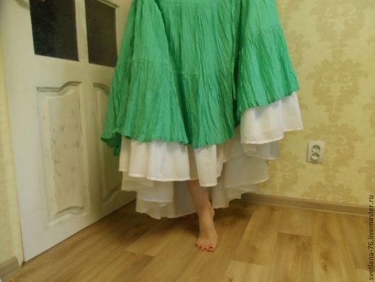 Белье ручной работы. Ярмарка Мастеров - ручная работа. Купить Нижняя юбка в пол. Handmade. Белый, бохо, шебби шик