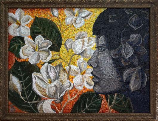 Символизм ручной работы. Ярмарка Мастеров - ручная работа. Купить Картина из мозаики Ева. Handmade. Комбинированный, райский сад, Композит