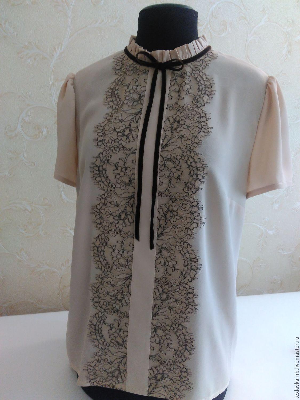 Блузка с кружевом купить
