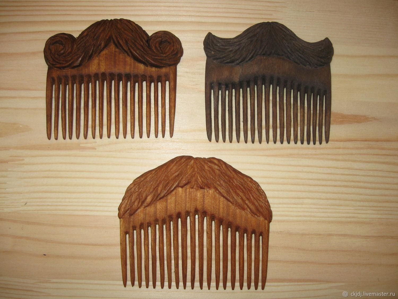 Гребешки деревянные для бороды и усов, Гребни, Салават,  Фото №1