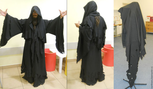 Карнавальные костюмы ручной работы. Ярмарка Мастеров - ручная работа. Купить Назгул. Handmade. Назгул, Властелин колец, черный, габардин