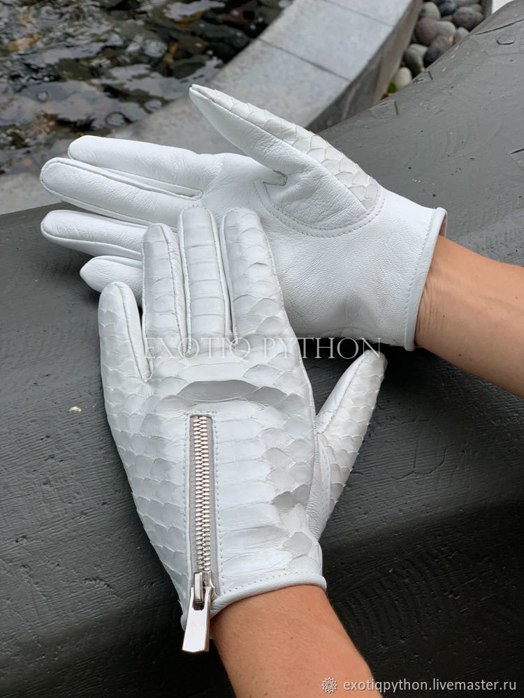 Women's gloves from Python, Gloves, Moscow,  Фото №1