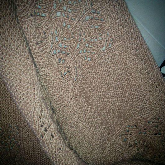 Пледы и одеяла ручной работы. Ярмарка Мастеров - ручная работа. Купить Плед вязаный спицами. Handmade. Плед вязаный