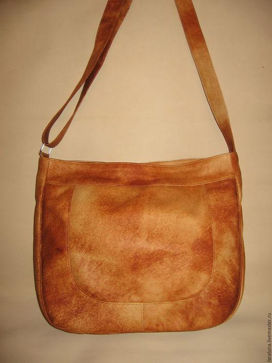 """Женские сумки ручной работы. Ярмарка Мастеров - ручная работа. Купить Кожаная сумка """"Охра"""". Handmade. Рыжий, сумка из кожи"""