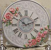 """Часы классические ручной работы. Ярмарка Мастеров - ручная работа Часы настенные """"Встреча"""". Handmade."""