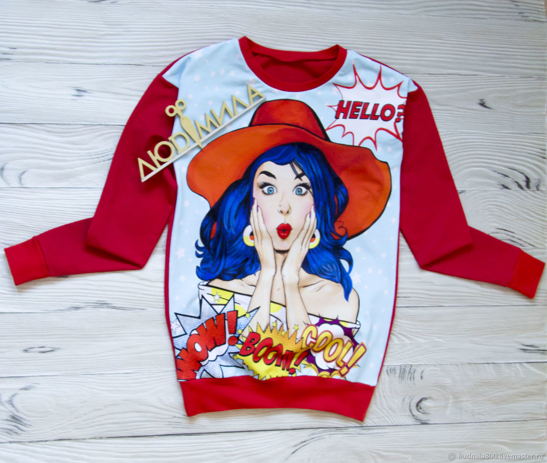 T-Shirt Pop Art, Pullover Sweaters, Tyumen,  Фото №1