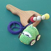 """Куклы и игрушки ручной работы. Ярмарка Мастеров - ручная работа Прорезыватель """" Ключ от мерседеса"""". Handmade."""