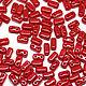 Для украшений ручной работы. Ярмарка Мастеров - ручная работа. Купить Чешские бусины Бриксы 3x6mm Opaque Red CzechMates Bricks 50шт. Handmade.