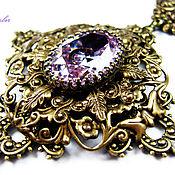 handmade. Livemaster - original item Vintage style. Necklace with cubic Zirconia
