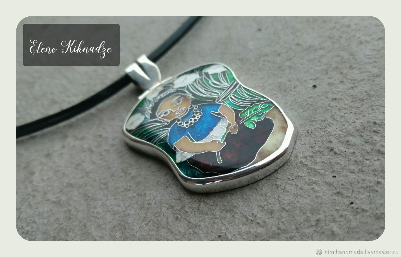 129d6a6b6861 Кулон из серебра и Минанкари по мотивам работ Д. Риверы – купить в ...