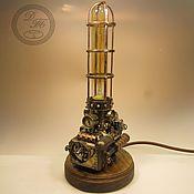 Потолочные и подвесные светильники ручной работы. Ярмарка Мастеров - ручная работа Настольный светильник в стиле стимпанк. Handmade.