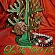 """Интерьерные слова ручной работы. Ярмарка Мастеров - ручная работа. Купить Подставка под украшения """"Араукария"""". Handmade. Зеленый, для колец"""