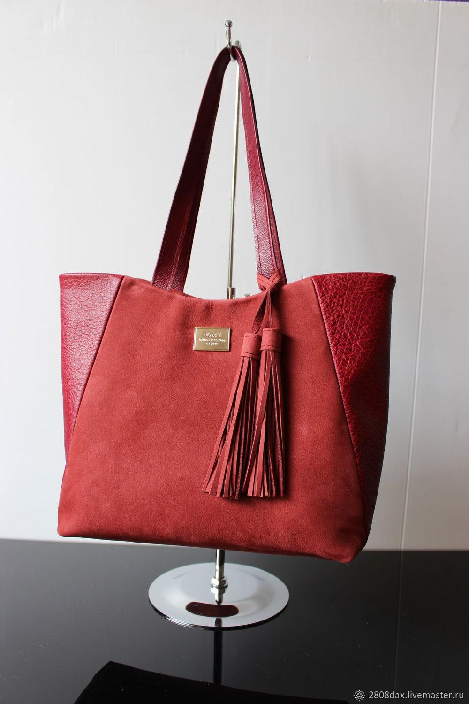 de6cd01430f2 Бордовая кожаная/замшевая сумка с кисточками. Olga'S Luxury Creation