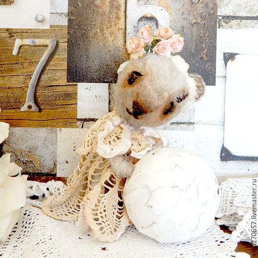 Мишки Тедди ручной работы. Ярмарка Мастеров - ручная работа. Купить Маленькая нежная мишутка Манечка 19 см. Handmade.