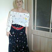 Одежда ручной работы. Ярмарка Мастеров - ручная работа Блузка из штапеля с рисунком. Handmade.