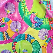 """Аксессуары ручной работы. Ярмарка Мастеров - ручная работа Шелковый шарф """"ЛЕТО!""""  Батик.. Handmade."""