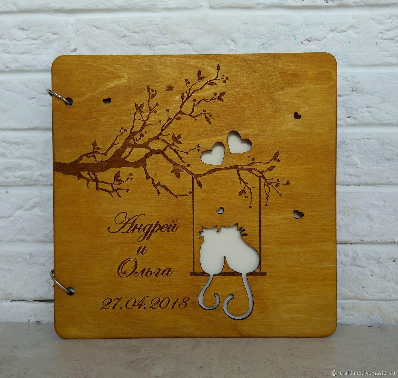 Открытке, открытка книжка из дерева
