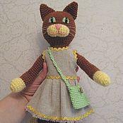 Куклы и игрушки handmade. Livemaster - original item Crochet cat. Handmade.