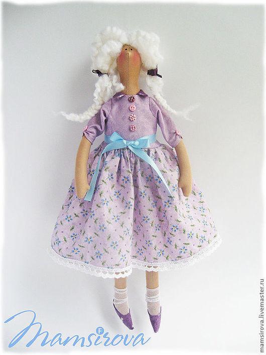 Куклы Тильды ручной работы. Ярмарка Мастеров - ручная работа. Купить Кукла-Тильда-Василиса. Handmade. Сиреневый, интерьерная игрушка