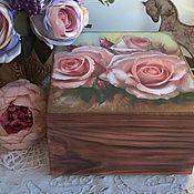 """Для дома и интерьера ручной работы. Ярмарка Мастеров - ручная работа Шкатулка """"Розы"""". Handmade."""