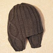 Работы для детей, handmade. Livemaster - original item Baby hat with ears, gray. Handmade.