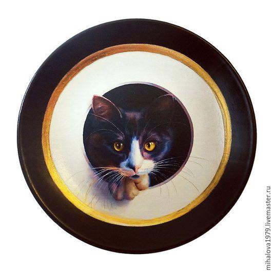 Тарелки ручной работы. Ярмарка Мастеров - ручная работа. Купить Декоративная тарелка «Котик». Handmade. Тарелка, Тарелка декоративная