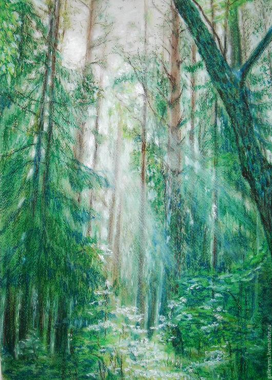 Пейзаж ручной работы. Ярмарка Мастеров - ручная работа. Купить Картина. Живые храмы Валаама. Handmade. Тёмно-зелёный