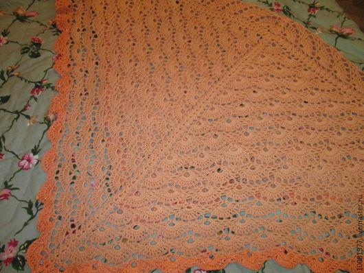Пледы и одеяла ручной работы. Ярмарка Мастеров - ручная работа. Купить Пледик из хлопка. Handmade. Коралловый, плед вязаный