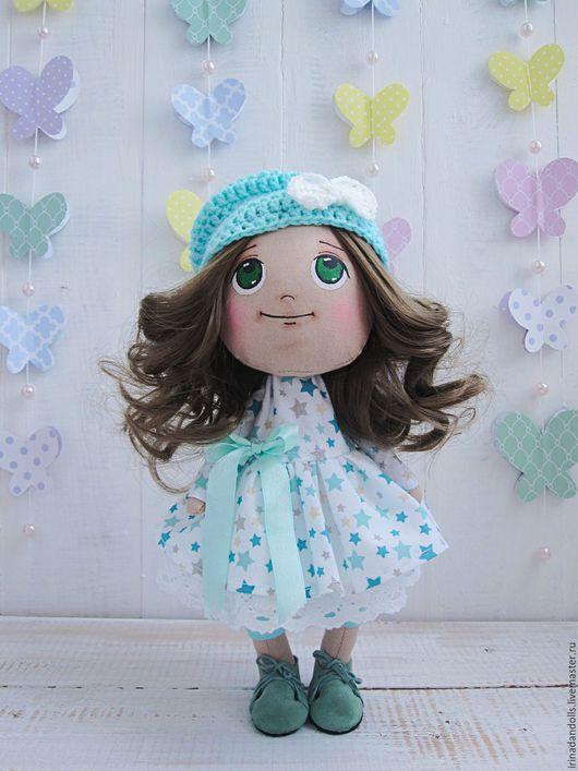 Куклы тыквоголовки ручной работы. Ярмарка Мастеров - ручная работа. Купить Кукла. Handmade. Бирюзовый, кукла ручной работы, тыквоголовка