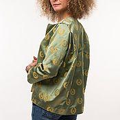 """Одежда ручной работы. Ярмарка Мастеров - ручная работа Жакет зеленый """"Мухи"""". Handmade."""