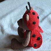 Куклы и игрушки handmade. Livemaster - original item Bear in ladybug costume. Handmade.