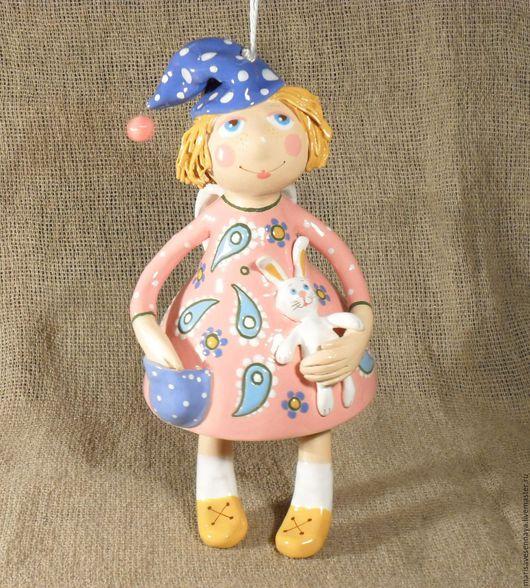 Коллекционные куклы ручной работы. Ярмарка Мастеров - ручная работа. Купить Гончарное изделие Малыш ангел. Handmade. Комбинированный