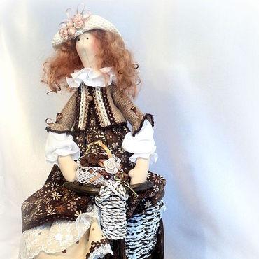 Куклы и игрушки ручной работы. Ярмарка Мастеров - ручная работа Кукла в стиле Тильда. Кофейная фея Кофа.. Handmade.