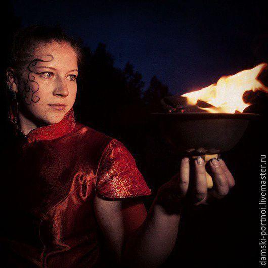 Платья ручной работы. Ярмарка Мастеров - ручная работа. Купить Платье Огненный Павлин. Handmade. Ярко-красный, сценический костюм