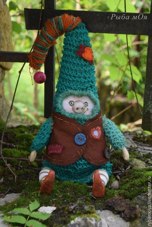Гном Косорыл. Ароматизированная кукла. Ярмарка мастеров- ручная работа. Handmade. Интерьерная текстильная кукла. Мастер Яга