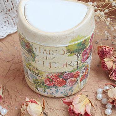 """Для дома и интерьера ручной работы. Ярмарка Мастеров - ручная работа Контейнер для мусора """"Мaison des fleurs"""". Handmade."""