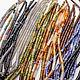 Агат черный Ботсвана трубочки 13х4 мм бусины цилиндры. Бусины. Ирина - InStudio камни и фурнитура. Ярмарка Мастеров.  Фото №5
