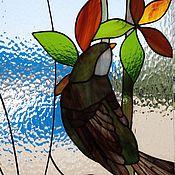 """Для дома и интерьера ручной работы. Ярмарка Мастеров - ручная работа витраж тиффани """"Птицы"""". Handmade."""