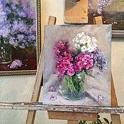 Картины и панно handmade. Livemaster - original item Oil painting Country bouquet canvas oil painting. Handmade.