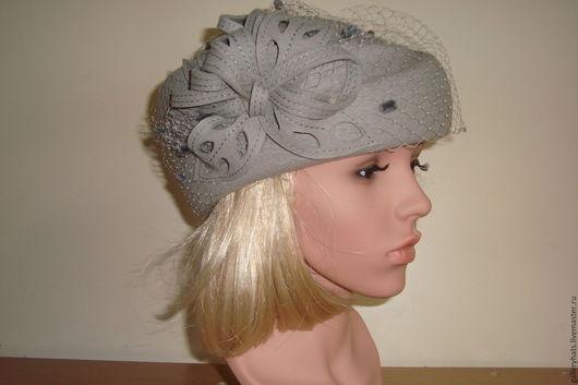 Шляпы ручной работы. Ярмарка Мастеров - ручная работа. Купить стюардесса Мэри. Handmade. Серый, головные уборы, велюр чехия