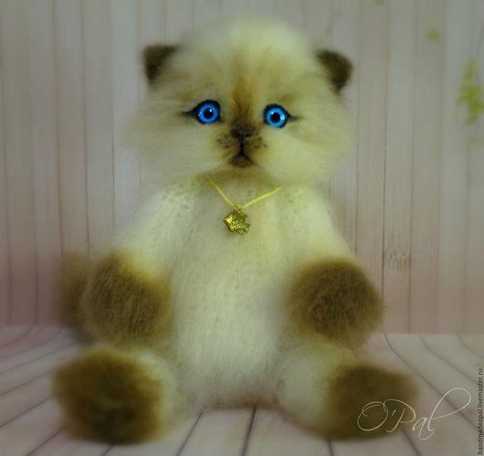 Игрушки животные, ручной работы. Ярмарка Мастеров - ручная работа. Купить Сиамский котенок. Handmade. Комбинированный, котенок, котик вязаный
