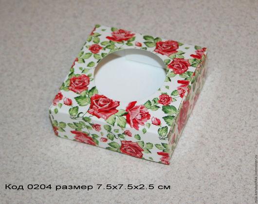 Коробочка квадратная код 0204   размер 9х6.5х2.5 см