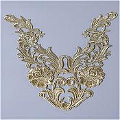 Материалы для творчества handmade. Livemaster - original item Luxurious lace appliques, Shining roses. Handmade.